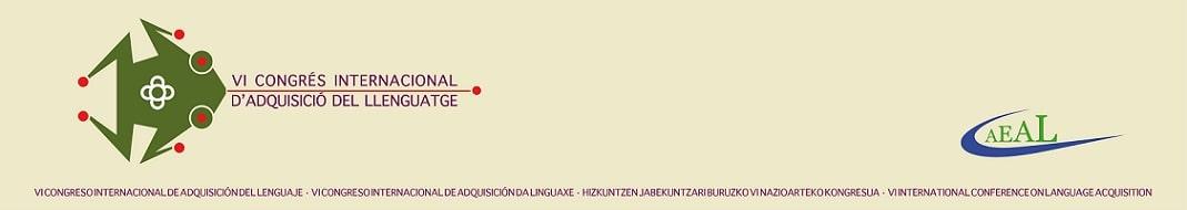 VI Congreso Internacional de Adquisición del Lenguaje