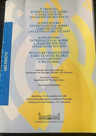 II Encuentro Internacional sobre la Adquisición de las Lenguas del Estado